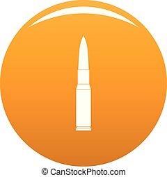 Ammunition icon vector orange