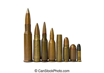 ammunition of some russian weapon. 5.6 mm, 5.65mm and 7.62...