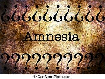 Amnesia disorder grunge concept