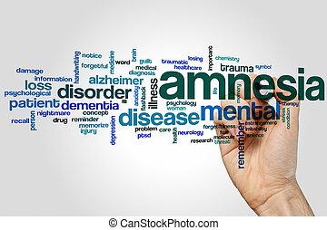 Amnesia word cloud concept