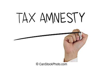amnesty, 概念, 税