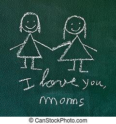amo, mamães