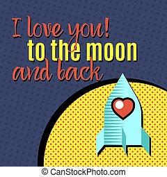 amo, para, lua, e, back.