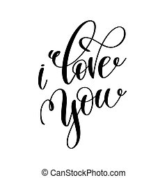 amo, preto branco, mão, lettering, inscrição
