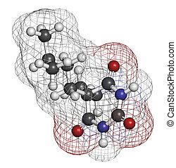 Amobarbital (amylobarbitone) barbiturate sedative, chemical...