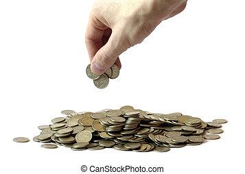 amontoados, dinheiro