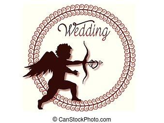 amor, 結婚式, kreis, rahmen