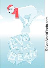 amor, a, urso