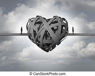 amor, aproximadamente, confundido