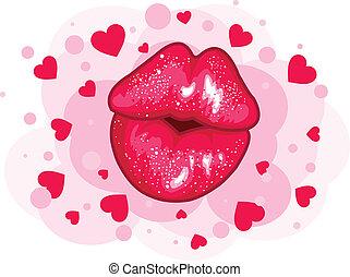 amor, beijo, desenho
