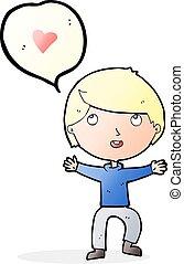 amor, caricatura, hombre