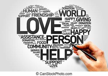 amor, caridade, e, produtividade