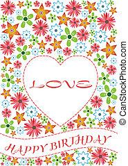 amor, cartão