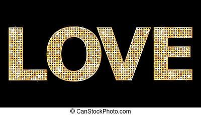 amor, cartas, oro