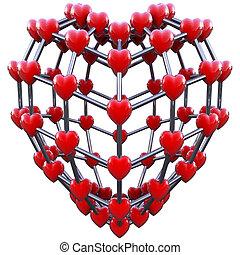 amor, conceito, molécula