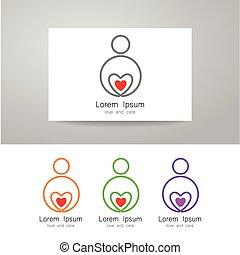 amor, cuidado, sinal, identidade