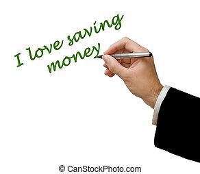 amor, dinero del ahorro