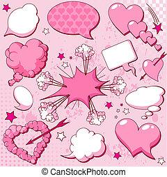 amor, discurso, burbujas