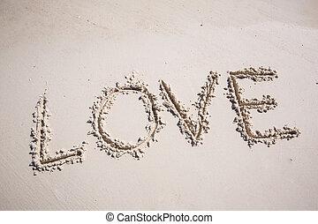 amor, en la playa