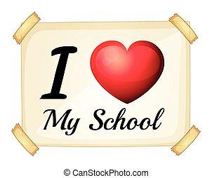 amor, escola, meu