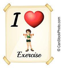 amor, exercício