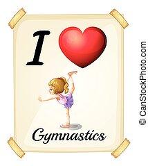 amor, ginástica