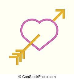 amor, herz, liebe, grobdarstellung, symbol, abstrakt, vektor, abbildung, grafik