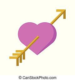 amor, herz, liebe, symbol, abstrakt, vektor, abbildung, grafik