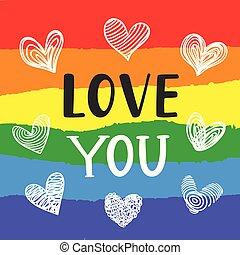 amor, homossexual, cartaz, inspirational, tu, orgulho