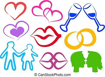amor, iconos