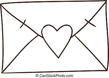 amor, isolado, letra, white.
