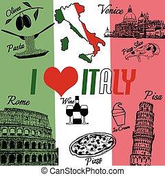 amor, itália, fundo