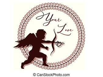 Amor, Kreis, Rahmen, Liebe - amor, kreis, rahmen, liebe