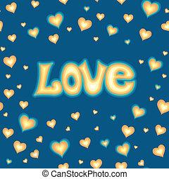amor, letras, contra, plano de fondo, con, corazones