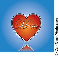 amor, mãe, conceito, ilustração