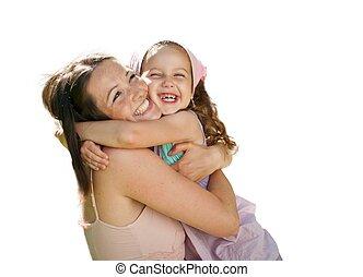amor, -, mãe criança