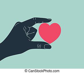 amor, mão