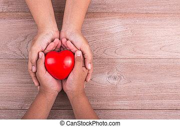 amor, mamá, concepto, :, mujer, asideros, ella, niños...