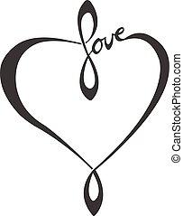 amor, mano, letras