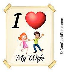amor, meu, esposa