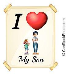 amor, meu, filho