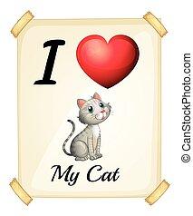 amor, meu, gato