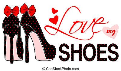 amor, meu, sapatos