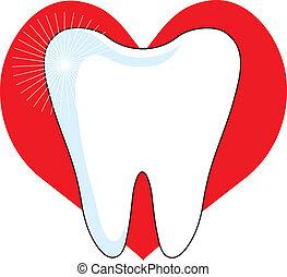 amor, mi, diente