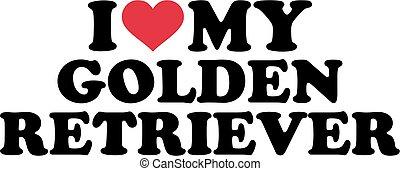 amor, mi, perro cobrador dorado