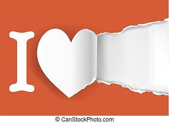 amor, modelo, declaração