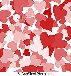 amor, mostrando, valentines, romance, papel, fundo, corações
