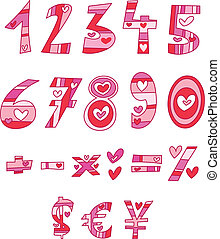 amor, números