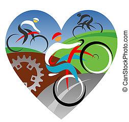 amor, nosotros, ciclismo