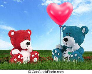 amor, osos